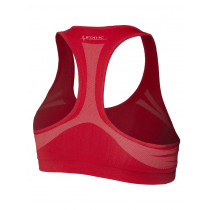 Bra red-white - woman performance high support - double face